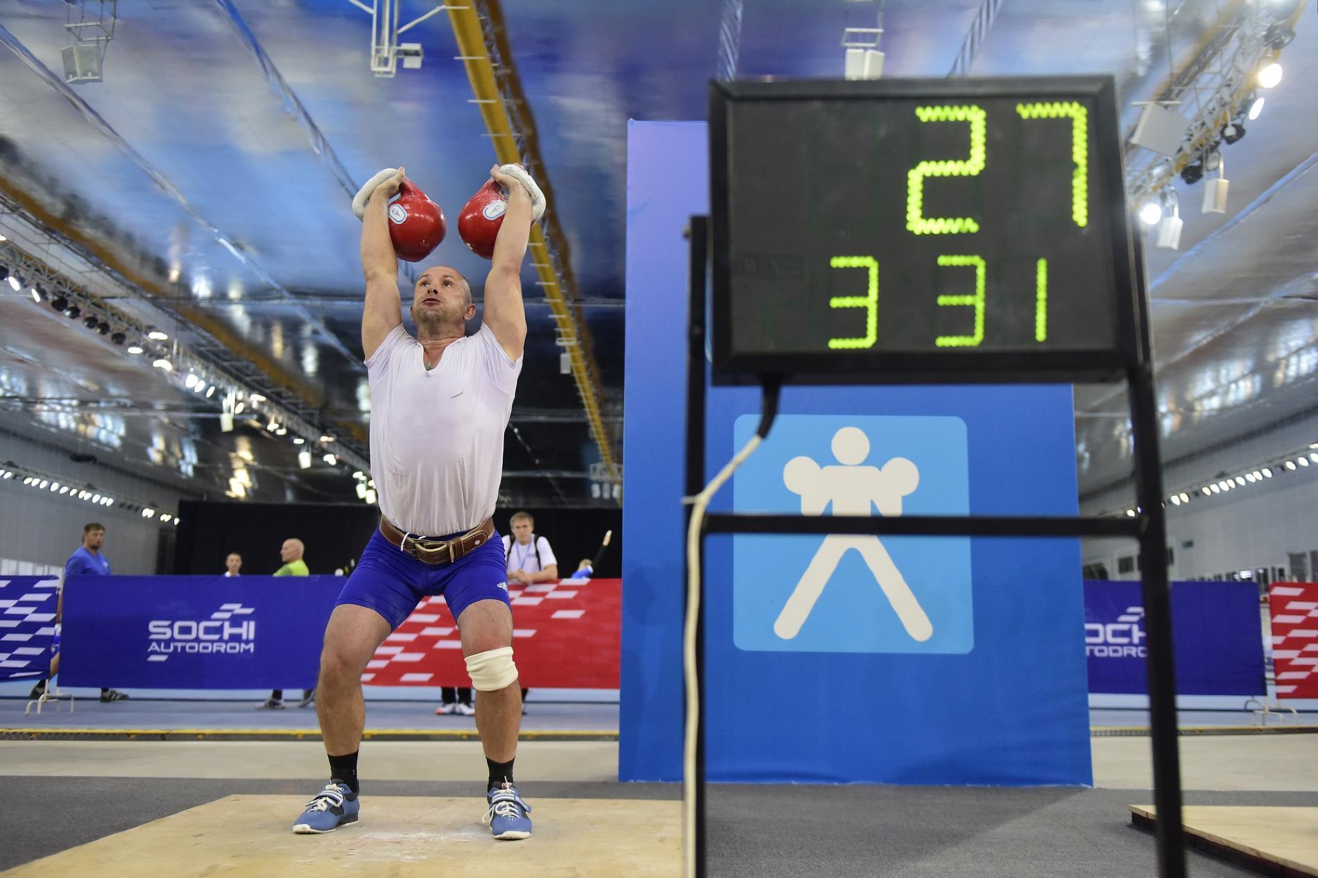 Соревнования по гиревому спорту на Спартакиаде